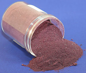 chromic acac is deep purple powder